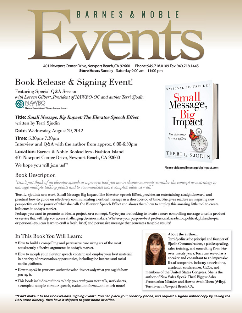Book Release & Signing Event Flyer