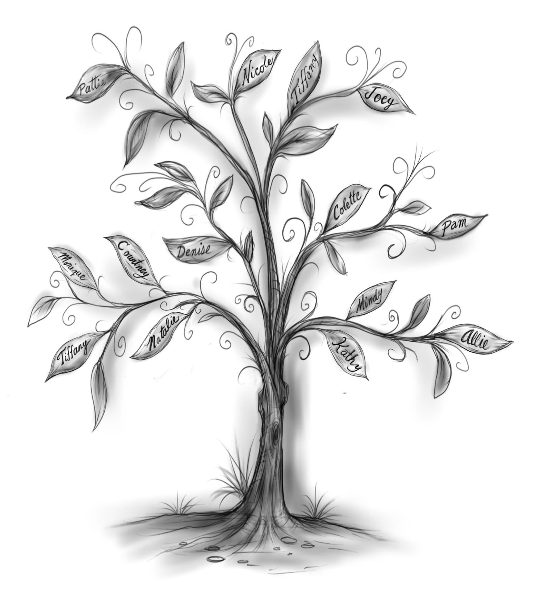 """""""Scrappy"""" Dedication Tree"""