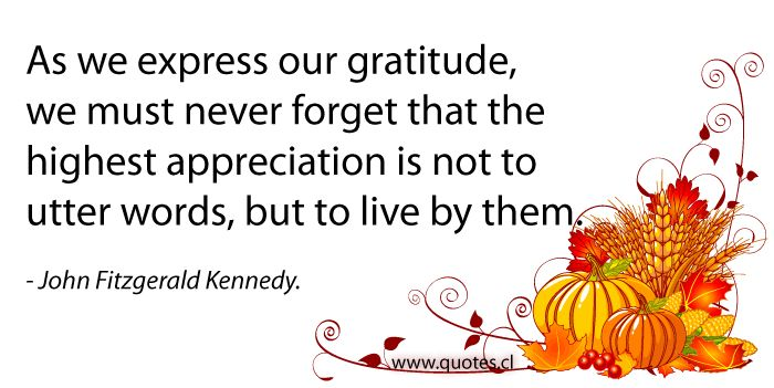 John Fitzgerald Thanksgiving Quote