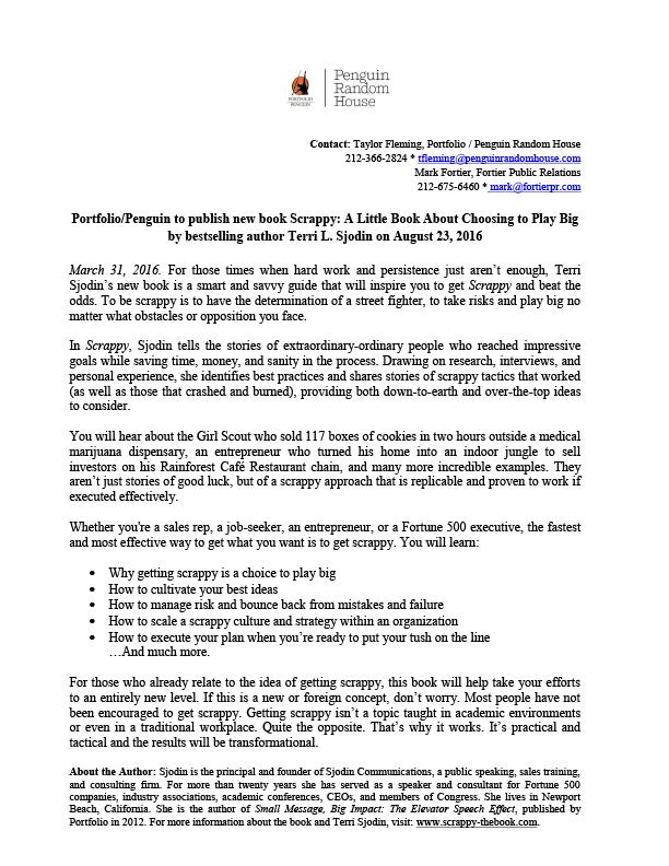 Scrappy Press Release