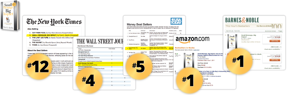 Image: Small Message, Big Impact Hits Bestseller Lists: