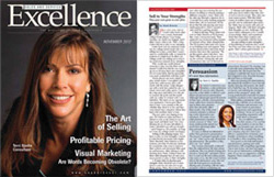 Image: Terri on the cover of Sales & Service Excellence Magazine, November 2012